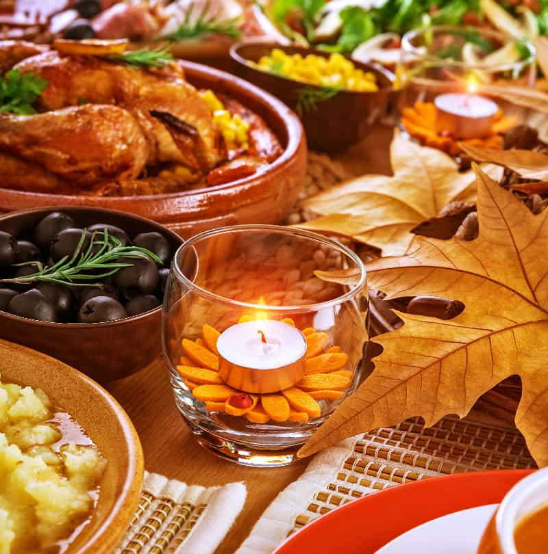 Thanksgiving family vacation dinner