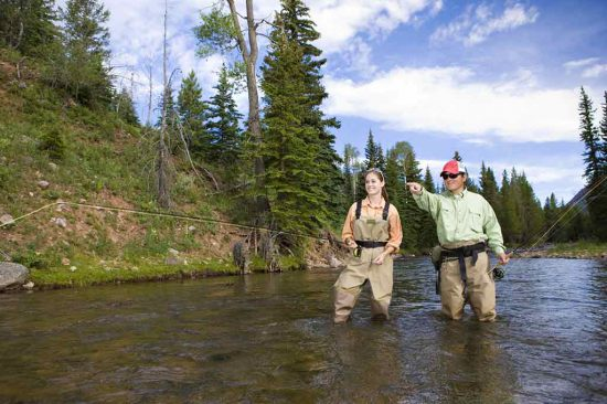 Get a taste of the beautiful Rocky Mountains by taking part in our guided fly fishing trips with trained dude ranch experts.