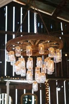 ranch wedding chandelier