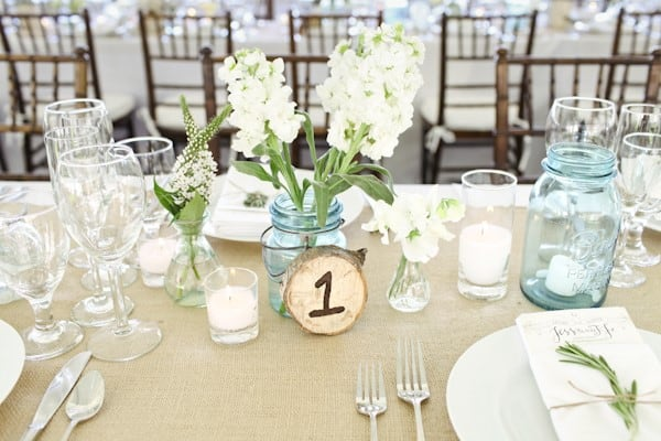 ranch wedding country-chic table decor