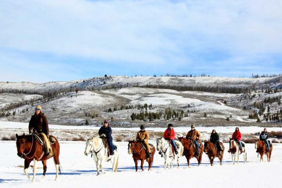 Of course, horseback trail rides are still on the agenda for a Colorado winter vacation at C Lazy U!