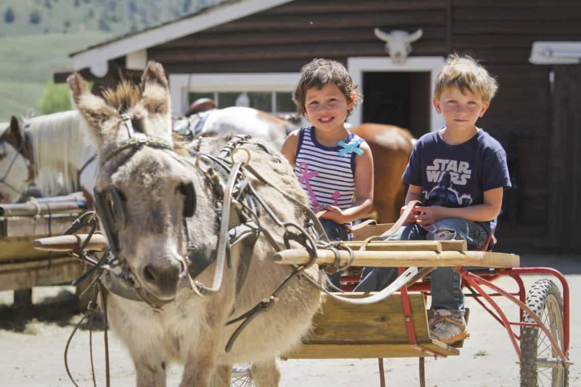 kids taking a ride