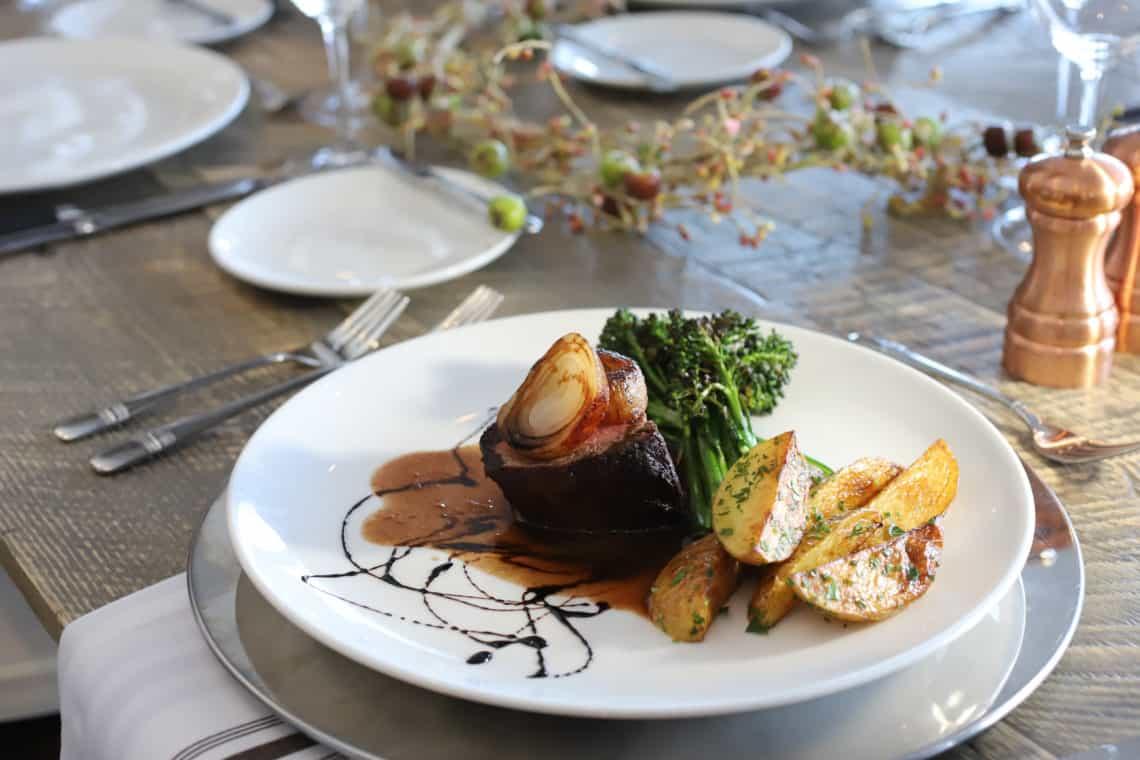 fancy dinner plate