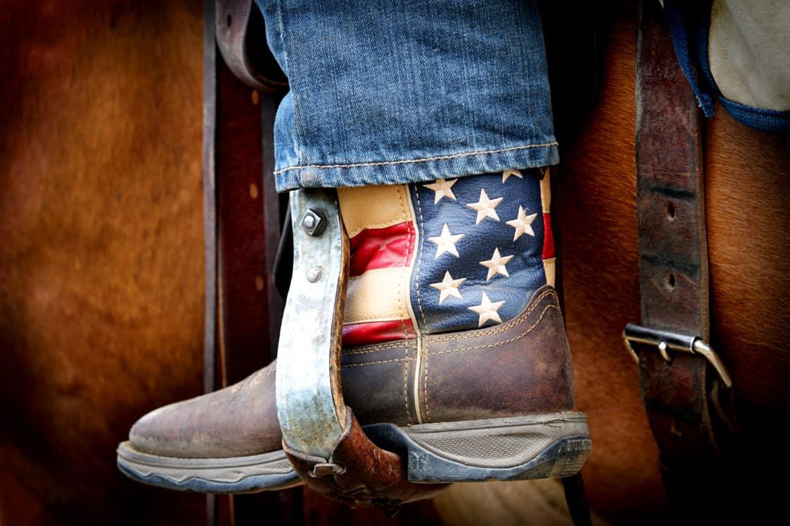 flag cowboy boot