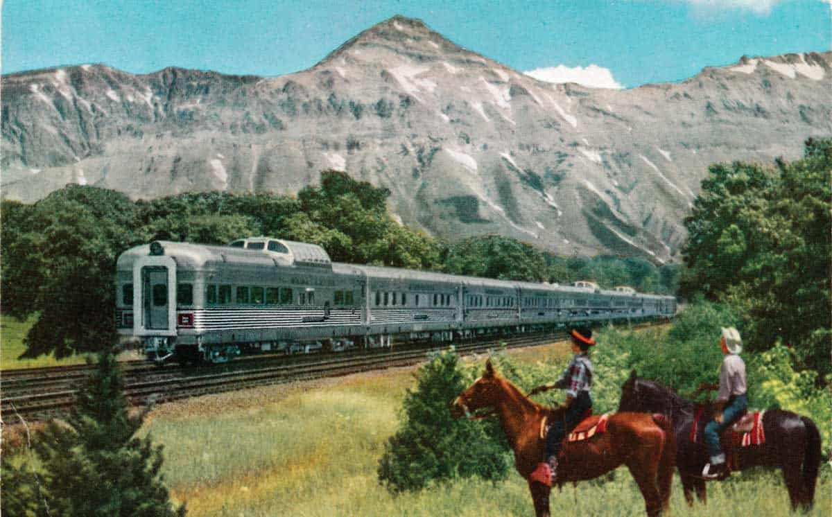 Guests at the ranch could see the amazing California Zephyr go by while out trail riding