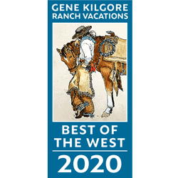 Best of the West badge for 2020 from Gene Kilgore's Ranch Vacations