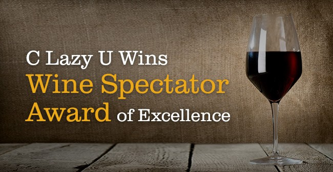 C Lazy U Wins Wine Spectator Award