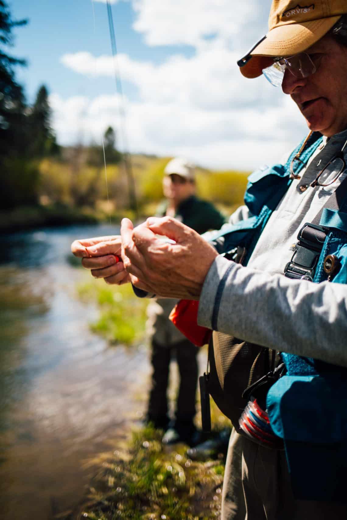 fly fishing string
