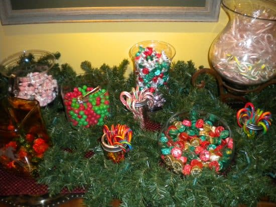 The candy spread in the Outfitter's Cabin of the Ranch