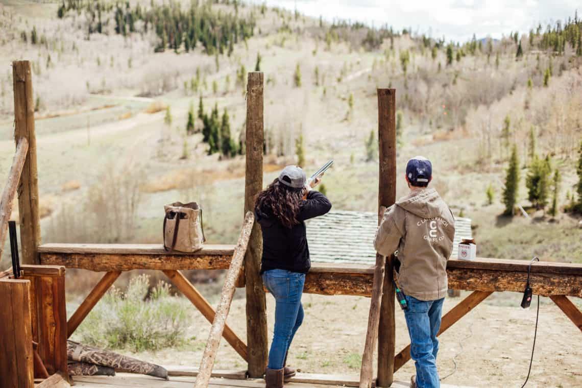girl trap shooting