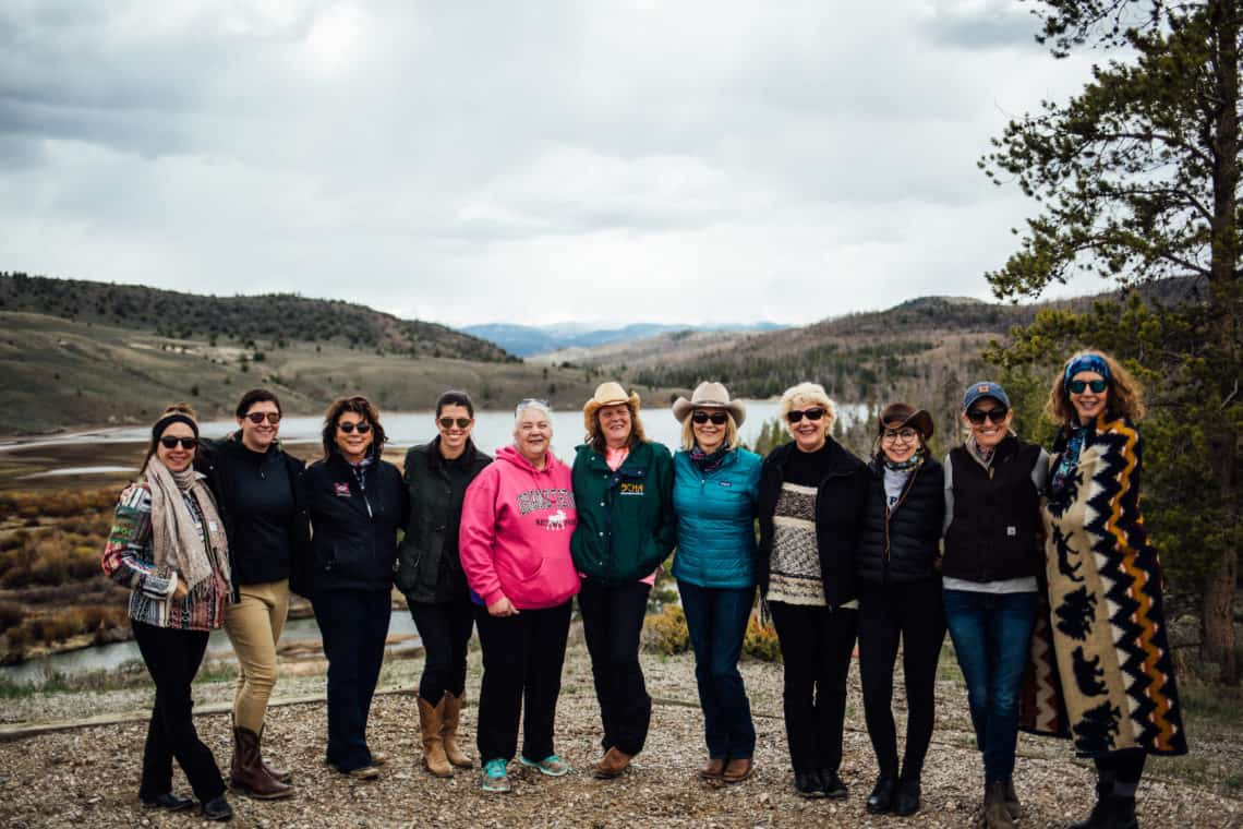 group of women for womens retreat