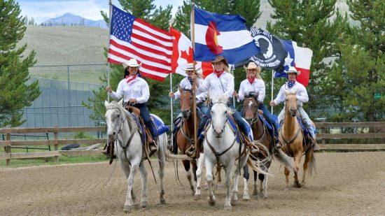 The grand entry at the weekly Shodeo