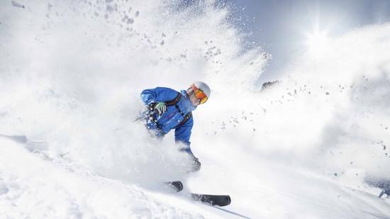 Resort skiing