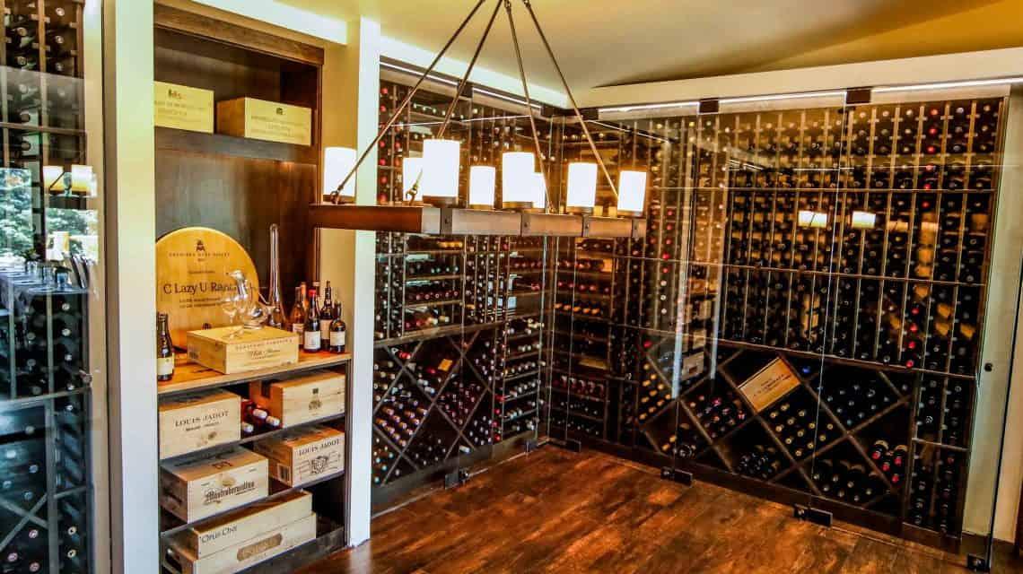 the Adega Wine Room at C Lazy U Ranch
