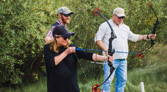 Archery competition during adult-only weekend