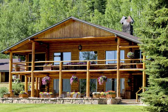 the lodge in the summer