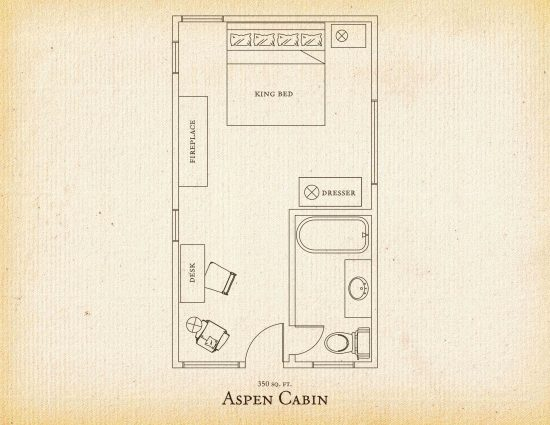 Floorplan of Aspen cabin