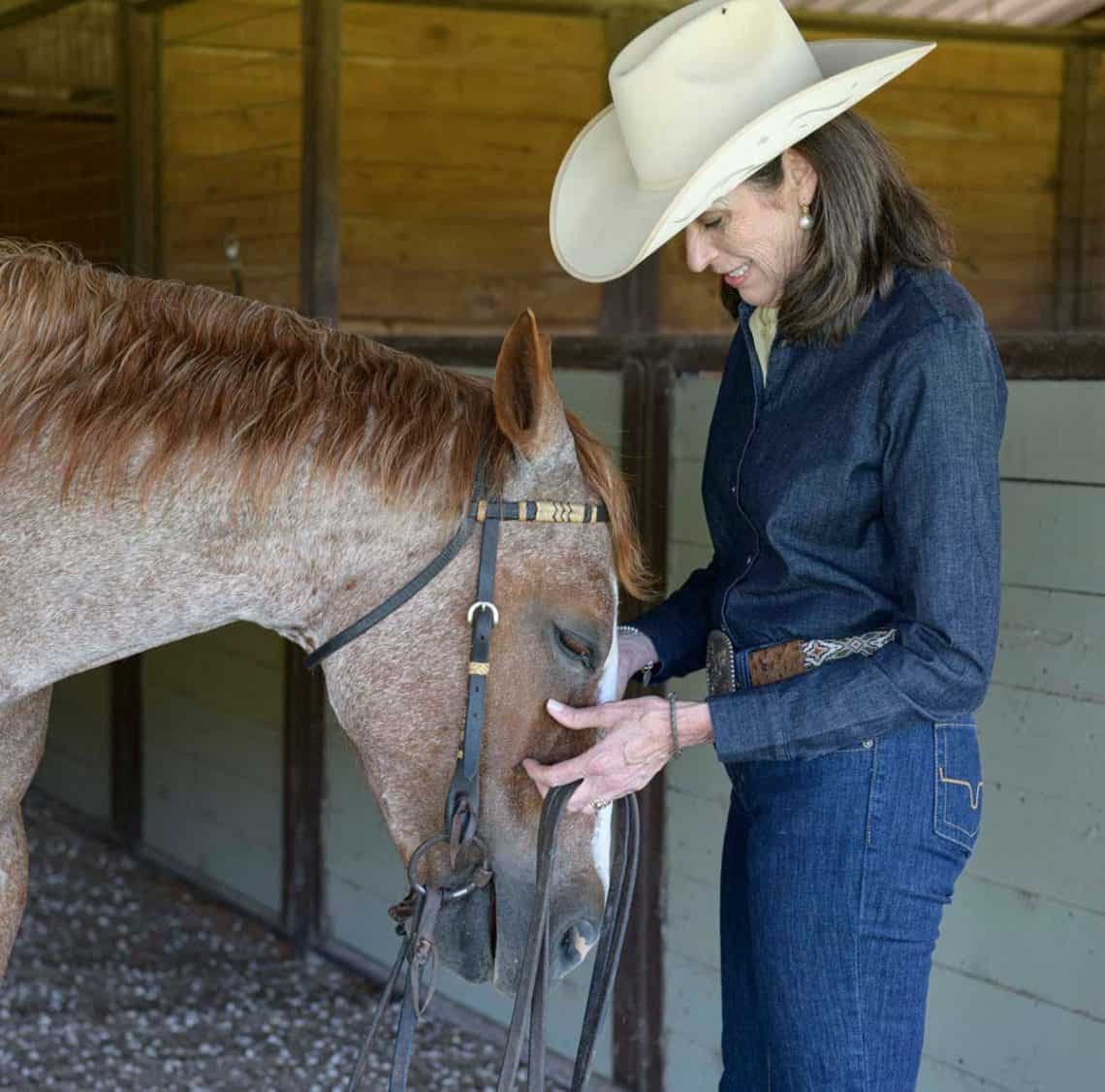 Barbra Schulte with her horse