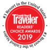 Rated #3 resort in the USA by the Conde Nast Readers' Choice Awards 2019