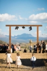 wedding arch in mountains
