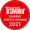 Conde Nast Traveler's Readers' Choice Award 2021