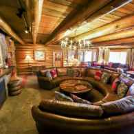 Cozy living room in the Main Lodge