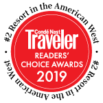 Rated #2 resort in The West by the Conde nast Readers' Choice Awards 2019