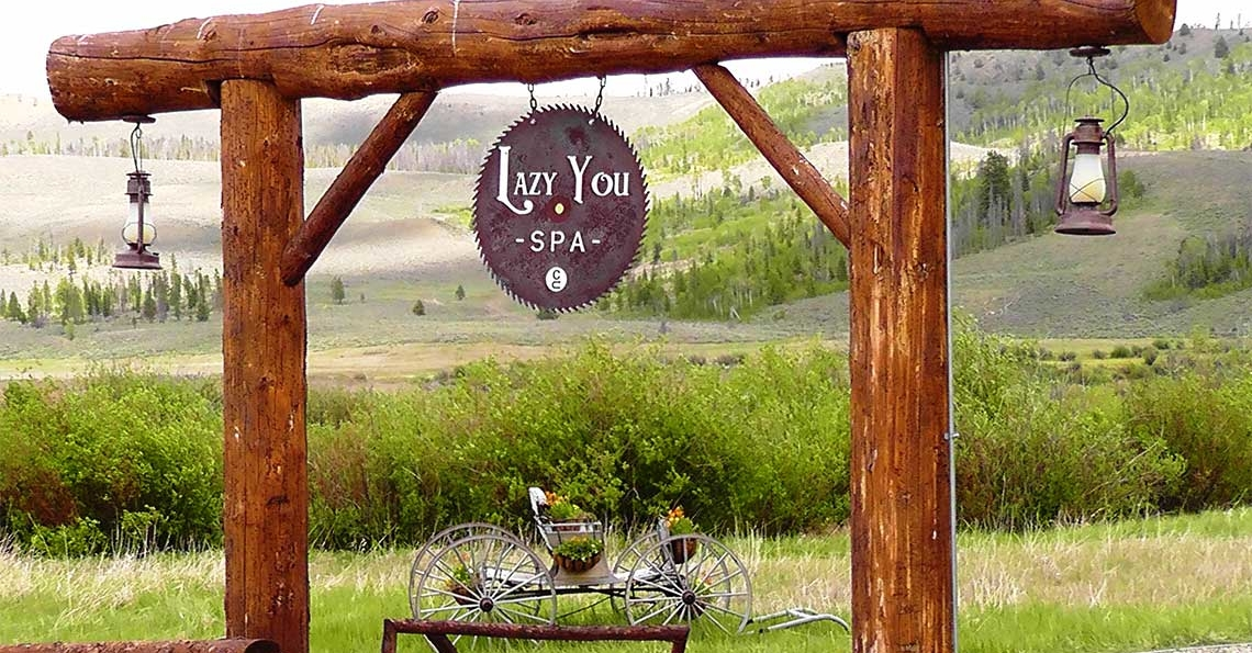 lazy you spa sign