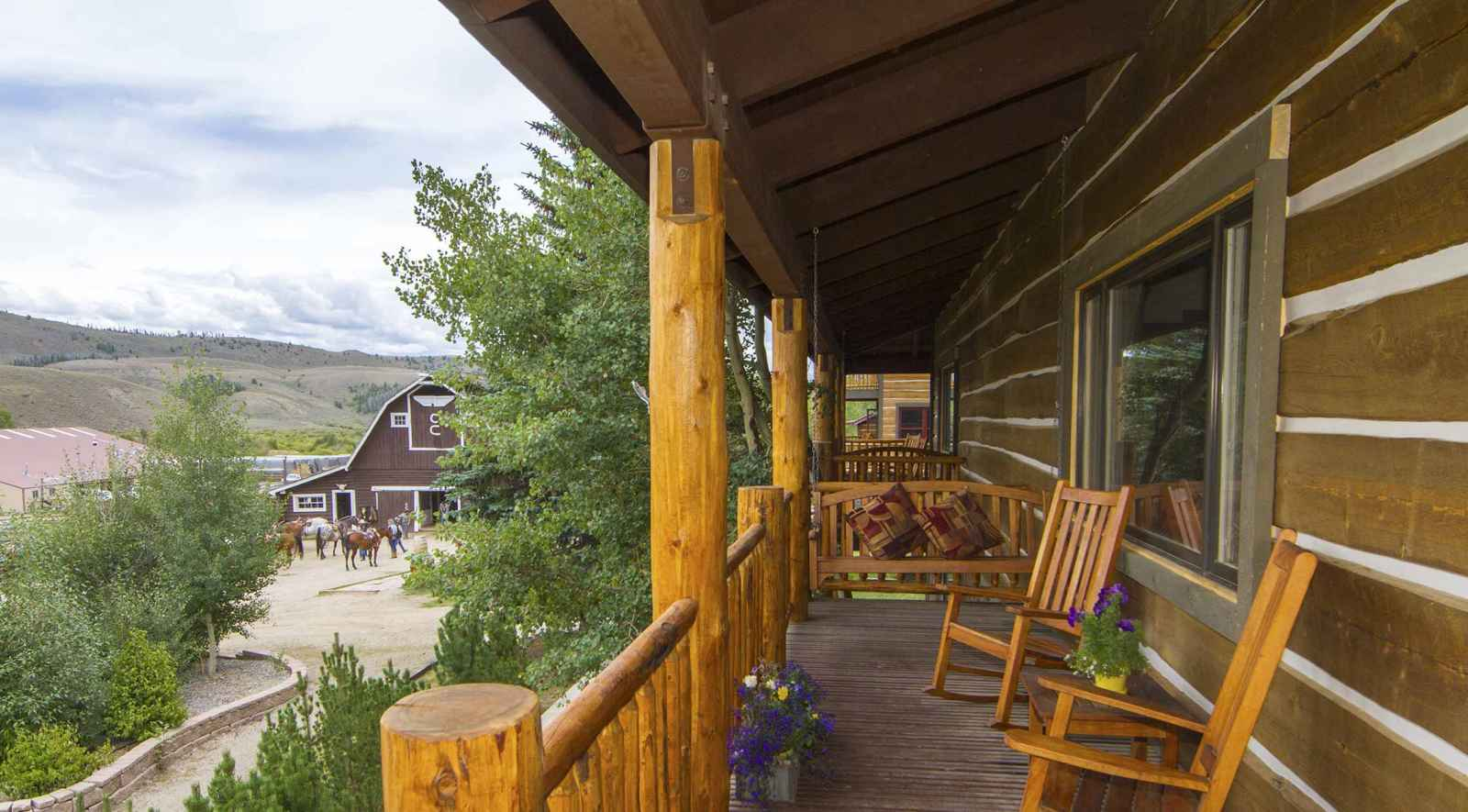 Roundup Lodging At C Lazy U Colorado Horseback Riding