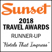 Sunset Travel Awards 2018 Runner-Up