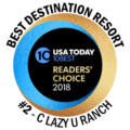 Rated a #2 Destination Resort by the USA Today 10Best Readers Choice Awards
