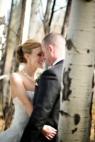 wedding couple in birches