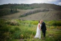 wedding couple in meadous