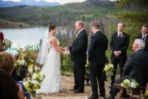 wedding couple saying vows
