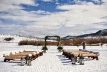 winter wedding set up