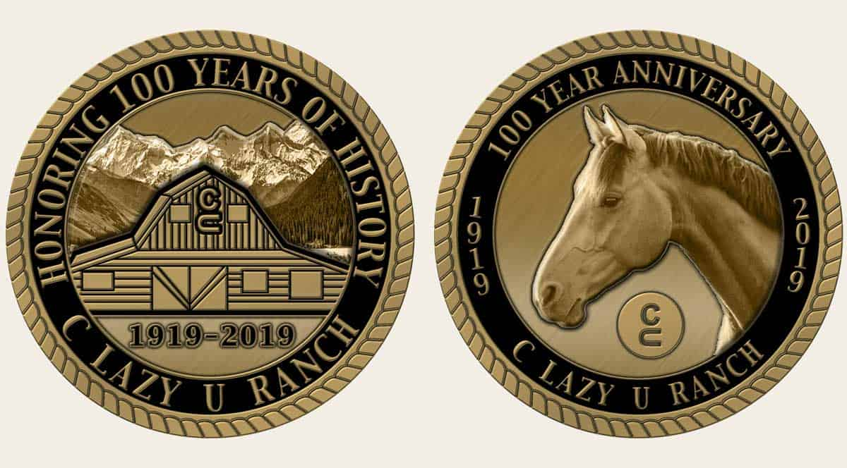 100 Year Anniversary C Lazy U Ranch coin