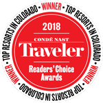 Chosen as the #1 resort in Colorado by the Conde Nast Readers Choice Awards