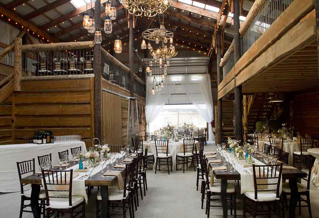 dining room for wedding