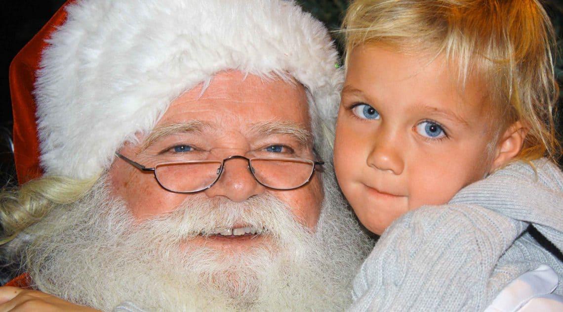 kid with santa