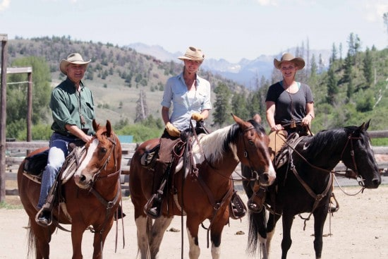 Riding group on horseback