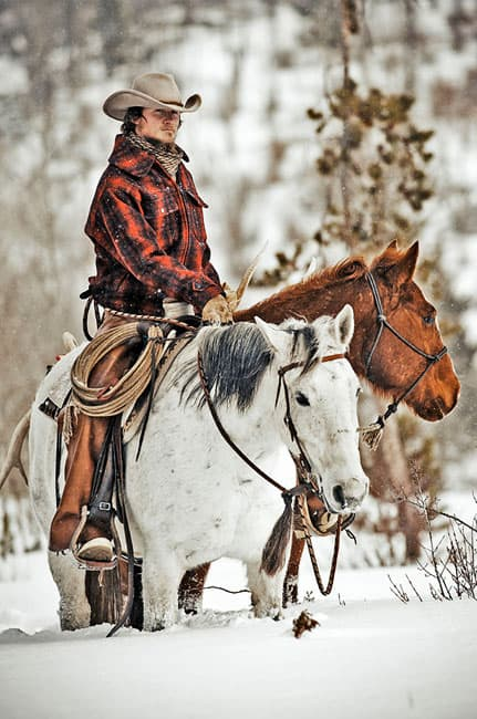 "Dustin sets out as the guide for ""a hunt on horseback""."