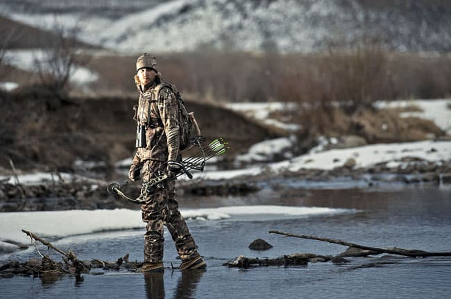 "Parker crosses the river ""in search of a buck"""