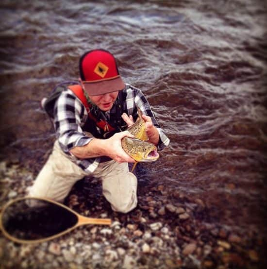 Fly fishing guide Josh Peters at C Lazy U Ranch