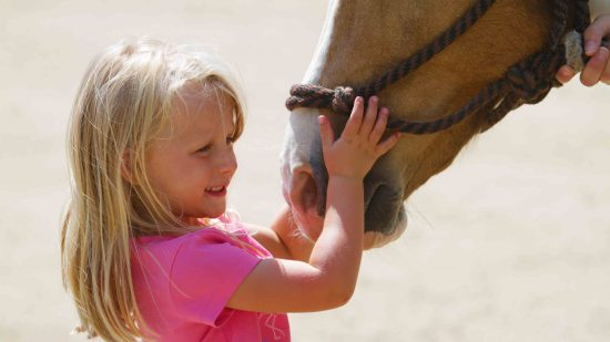 little-girl-with-horse-nose