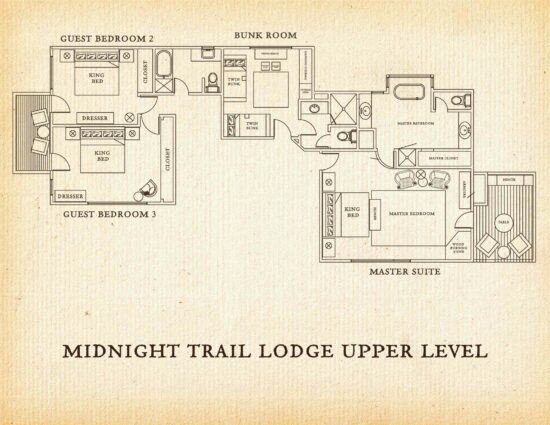 Upper floor of the Midnight Trail Lodge
