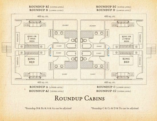 Floorplan for Roundup cabins