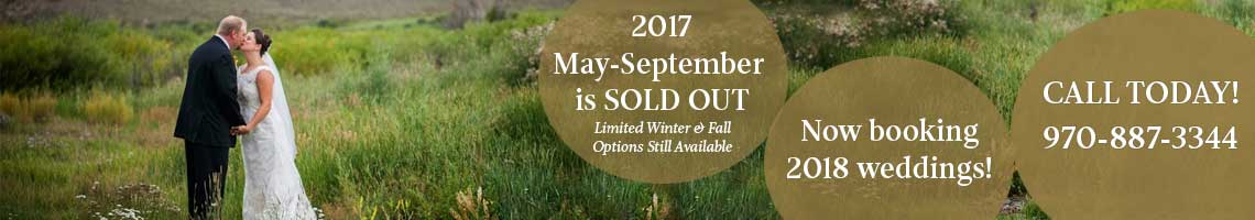 May - September 2017 is sold out. Now booking 2018 weddings!