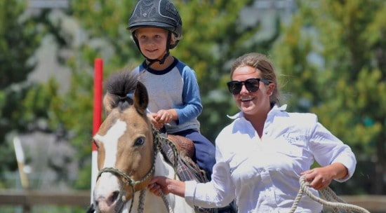 Kid on pony