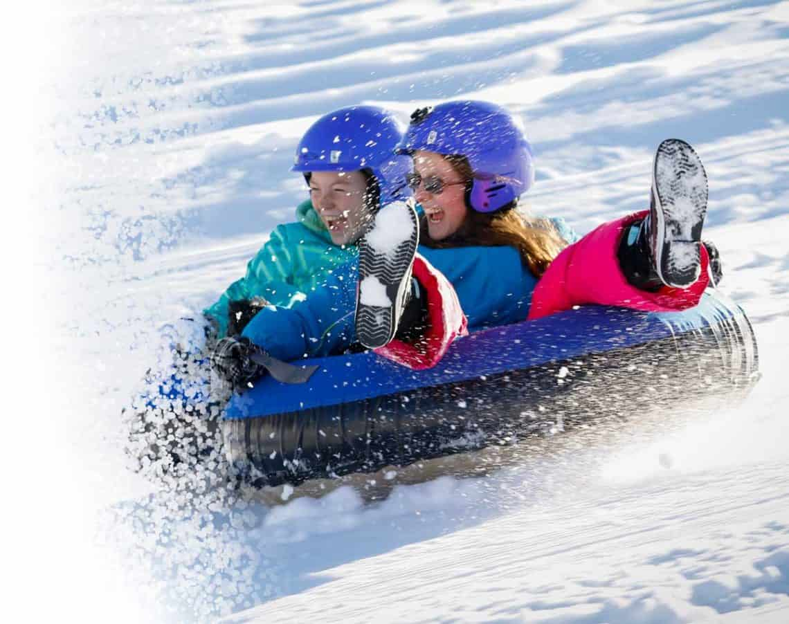 Adults and kids alike love our snowtubing hill