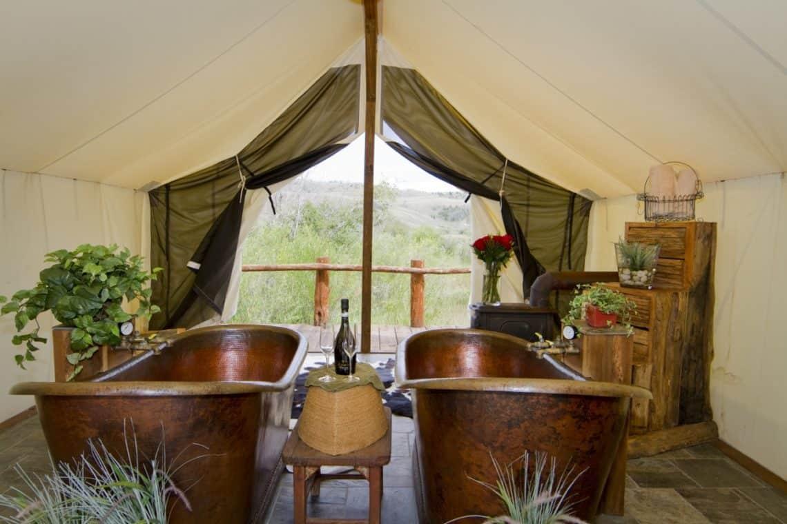 bathtubs at the spa